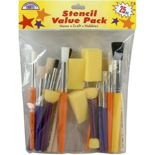 Stencil Brush Value Pack 25/Pkg-