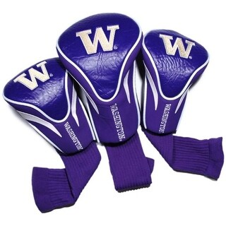 Team Golf 28594 University of Washington 3 Pack Contour Fit Headcover