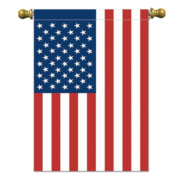 """Red and Blue Patriotic Rectangular Garden Flag 18"""" x 12"""" - N/A"""