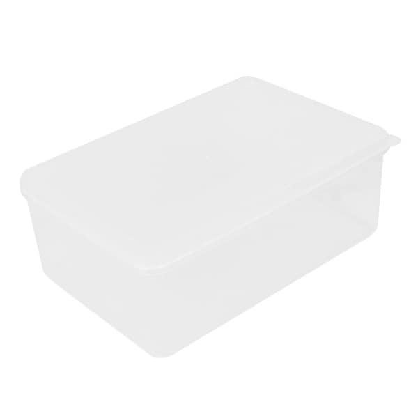 Unique Bargains Home Restaurant Kitchen 1100ml Plastic Food Container Storage Box Holder Clear