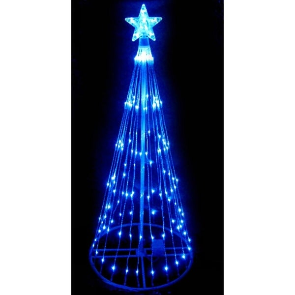 4' Blue LED Light Show Cone Christmas Tree Lighted Outdoor Decoration