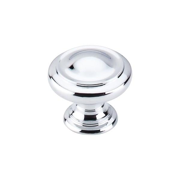 Top Knobs M1118 Nouveau III 1-1/8 Inch Diameter Mushroom Cabinet Knob - Polished chrome