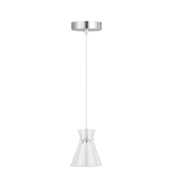 Vaxcel Lighting P0157 Swell 1-Light Single Pendant - satin nickel