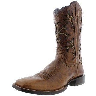 Ariat Mens Cowboss Leather Square Toe Cowboy, Western Boots