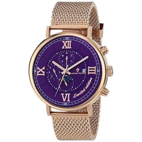 Christian Van Sant Men's Somptueuse LTD Purple Dial Watch - CV1157 - One Size