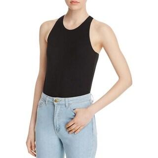 Bardot Womens Arrabella Bodysuit High Neck Sleeveless