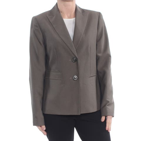 LE SUIT Womens Brown Blazer Wear To Work Jacket Size 6
