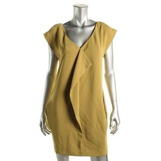 Rachel Rachel Roy Womens Guest List Double-V Cap Sleeves Cocktail Dress - M