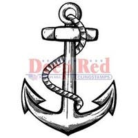 "Anchor - Deep Red Cling Stamp 1.5""X2"""