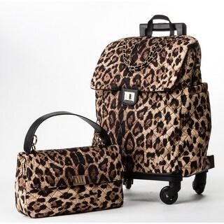 MKF Collection Norva 2 Pc Set Roller Lightweight Luggage & Handbag by Mia K. Farrow