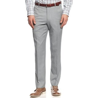 Bar III Carnaby Collection Slim Fit Dress Pants Flat Front Light Blue