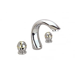 Bathroom Faucet 8 Widespread Chrome Ball 2 Handles Renovator's Supply