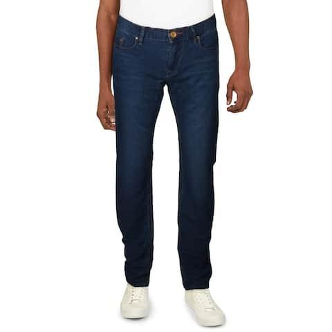 Robert Graham Mens Mackay Jeans Denim Textured - Indigo