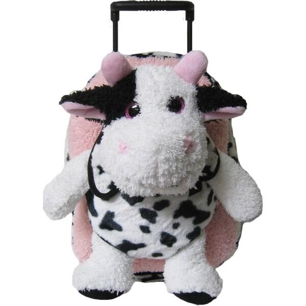 Shop Kreative Kids Girls Pink Cow Removable Plush Stuffed