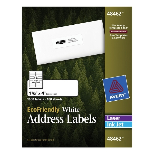shop avery ecofriendly permanent adhesive address labels for laser
