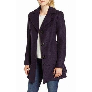 Link to Kensie Womens Coats Deep Purple Size M Flounce-Hem Notched-Lapel Similar Items in Women's Outerwear