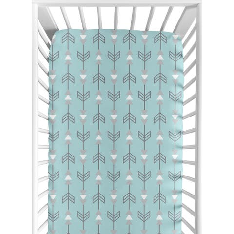 Sweet Jojo Designs Arrow Print Fitted Crib Sheet for the Earth and Sky Collection