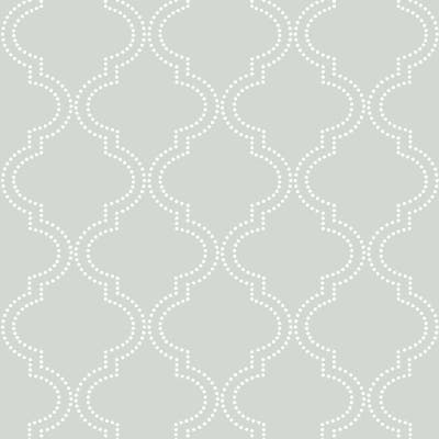 Grey Quatrefoil Peel & Stick Wallpaper - 216in x 20.5in x 0.025in
