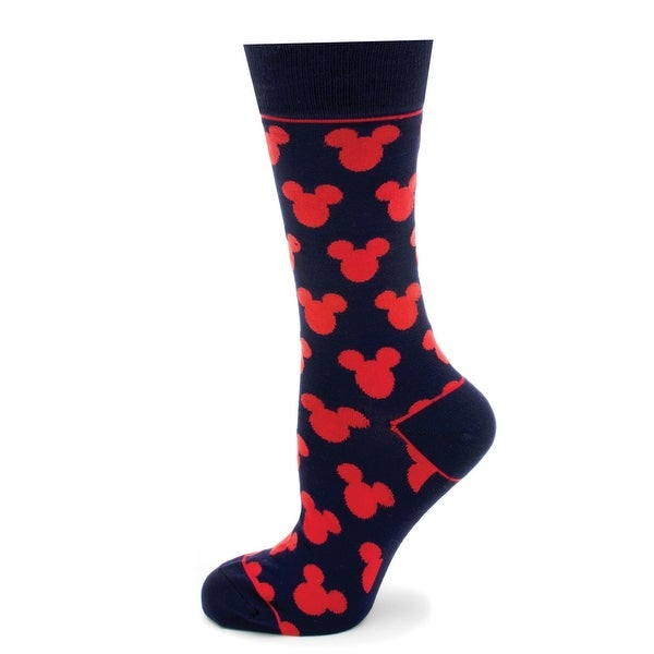 Mickey Mouse Silhouette Disney Crew Socks - Moisture Wicking Jute-cell Yarn