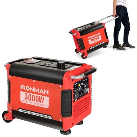 IRONMAN 3000W Portable Inverter Gasoline Generator Ultra Quiet 4
