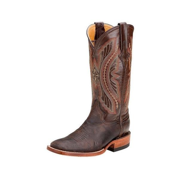 Ferrini Western Boots Womens Distressed Kangaroo Chocolate