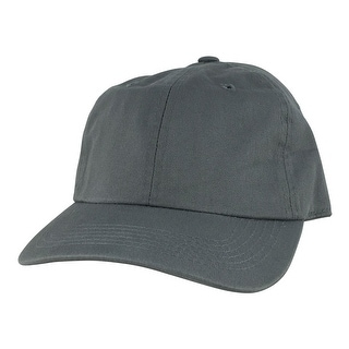 Plain Low Unstructured C1163 Cotton Curve Bill Adjustable Strapback Dad Cap - Stone Grey