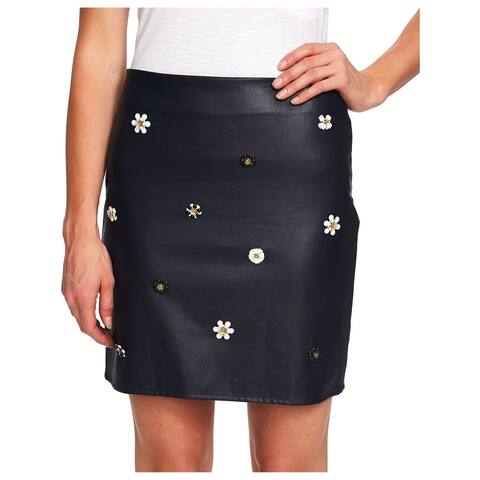 CeCe Womens Mini Skirt Faux Leather Studded