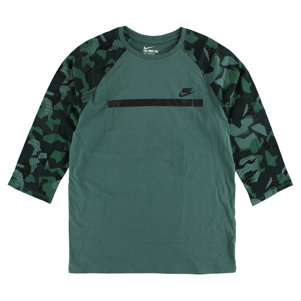 9601073d Shop Nike Mens Badlands Baseball T Shirt Army Green - army  green/emerald/black - m - Free Shipping On Orders Over $45 - Overstock -  22614690