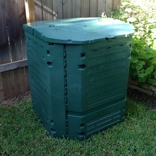 Heavy Duty Plastic 32-Cubic ft. Home Compost Bin Compooster