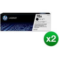 HP 78A Black Contract LaserJet Toner Cartridge (CE278A)(2-Pack)