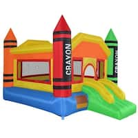 Cloud 9 Mighty Bounce House - Mini Crayon - Inflatable Kids Jumper without Blower