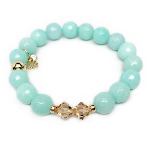 "Aqua Quartz Paris 7"" Bracelet"