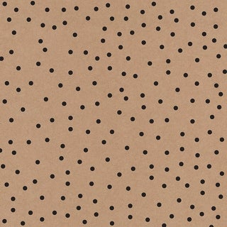 "American Crafts Single-Sided Cardstock 12""X12""-DIY Shop 3 Kraft, Black Dots"