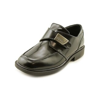 Kenneth Cole Reaction Fast Cash 2 XL Youth Square Toe Synthetic Black Loafer