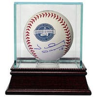 Johnny Damon signed Rawlings 2009 Inaugural Season Yankee Stadium Baseball w Glass Case New York Ya
