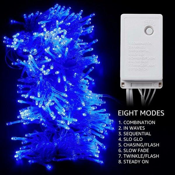 9.8ft × 9.8ft 320 LED Fairy String Lights, Christmas Blue