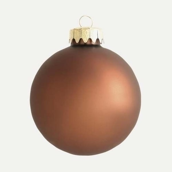 """Club Pack Of 120 Matte Chocolate Brown Glass Ball Christmas Ornaments 1.25"""""""