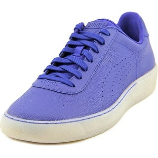Puma Star Men Round Toe Leather Blue Sneakers