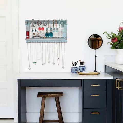Home Decor Wall Mounted Shelf Jewelry Stand With Detachable Bracelet Bar