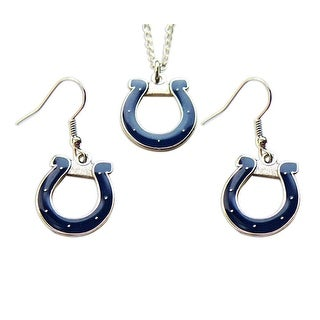 Indianapolis Colts Necklace and Dangle Earring Charm Set NFL