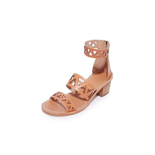 f62ff4ee3704 Shop Soludos Women s Geo Laser Cut Midheel Sandal Flat - 7.5 - Free ...