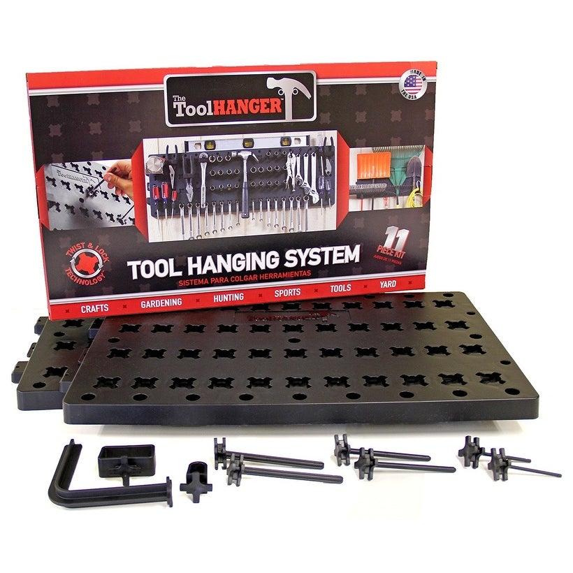 Hansen 8209 The Tool Hanger Starter Kit, Plastic,  Black, 11 Piece