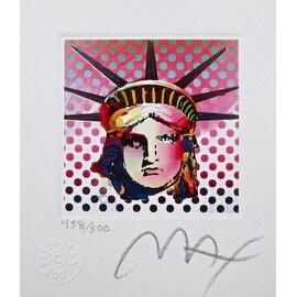 "Liberty Head II, Ltd Ed Lithograph (Mini 3.5"" x 3""), Peter Max"