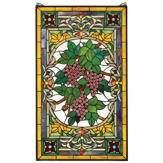 Design Toscano Fruit of the Vine Stained Glass Window