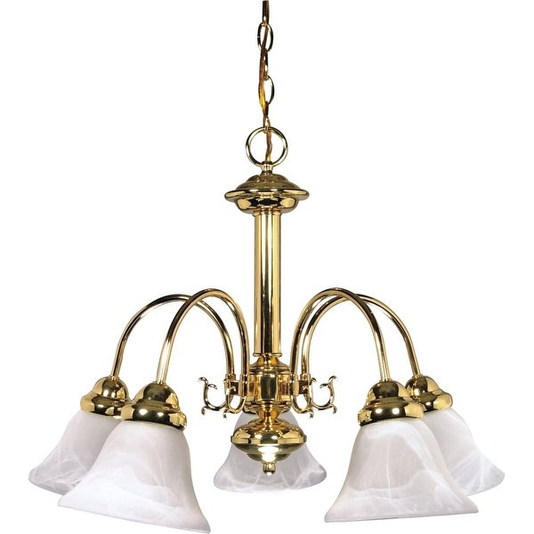 "Nuvo Lighting 60/185 Ballerina 5-Light 24"" Wide Chandelier - Polished brass"