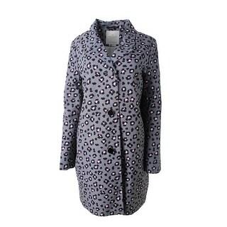Kate Spade Womens Printed Notch Collar Jacket