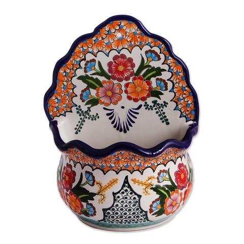 Terracotta flower pot, 'Cheerful Brown Turtle'
