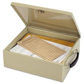 Steelmaster 221615103 Jumbo Cash Box with Lock, Sand