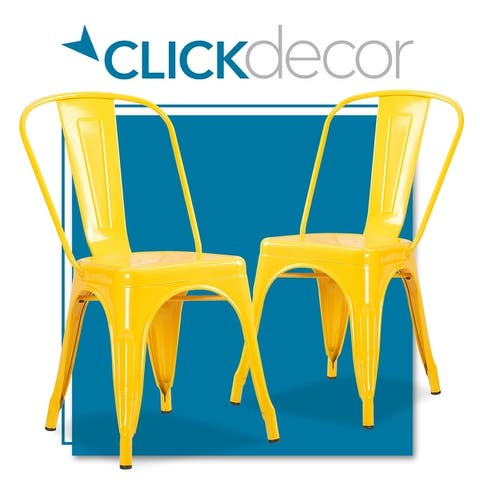 ClickDecor Finley Steel Dining Chair, Set of 2