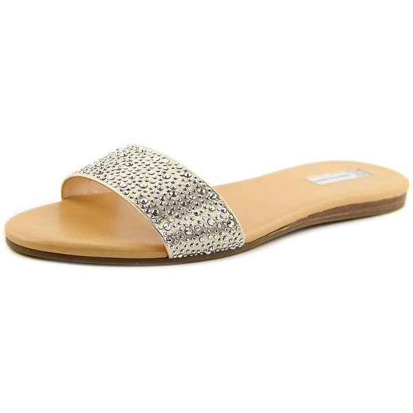 INC International Concepts Zinaa 2 Women Open Toe Canvas Slides Sandal